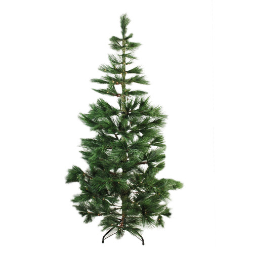 7' Pre-Lit Medium Pine Artificial Christmas Tree - Warm Clear LED Lights - IMAGE 1