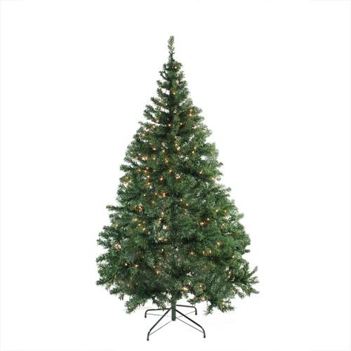 7.5' Pre-Lit Medium Niagara Pine Artificial Christmas Tree - Clear Lights - IMAGE 1