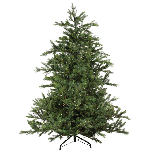 6.5' Pre-Lit Full Oregon Noble Fir Artificial Christmas Tree - Warm White LED Lights - IMAGE 1
