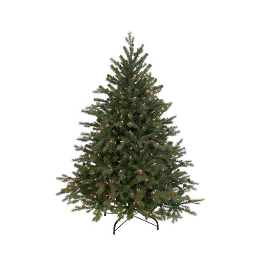 4.5' Pre-Lit Full Hunter Fir Artificial Christmas Tree - Clear Lights - IMAGE 1