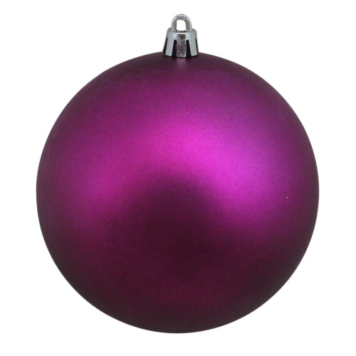 "Matte Magenta Purple Shatterproof Christmas Ball Ornament 4"" (100mm) - IMAGE 1"