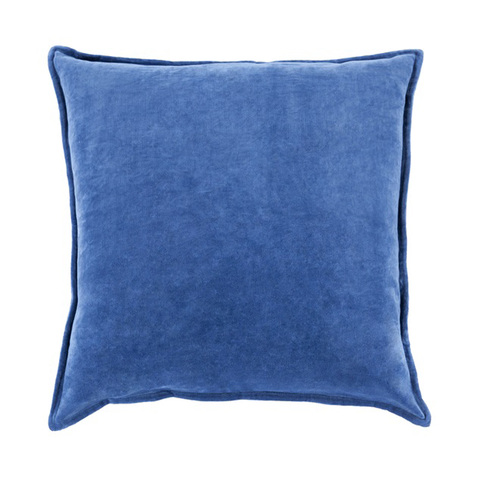 """18"""" Shaded Azure Blue Contemporary Woven Decorative Throw Pillow – Down Filler - IMAGE 1"""