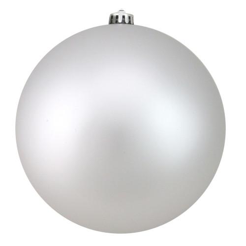 "Silver Splendor Shatterproof Matte Christmas Ball Ornament 8"" (200mm) - IMAGE 1"