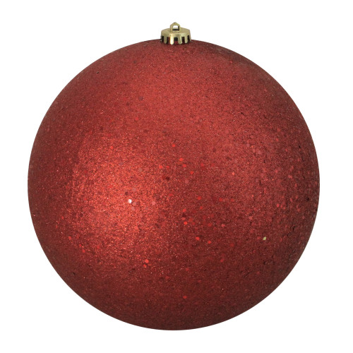"""Holographic Glitter Red Shatterproof Christmas Ball Ornament 10"""" (250mm) - IMAGE 1"""