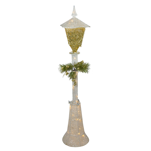 """48"""" Cool White LED Lighted Christmas Outdoor Lamp Post - IMAGE 1"""