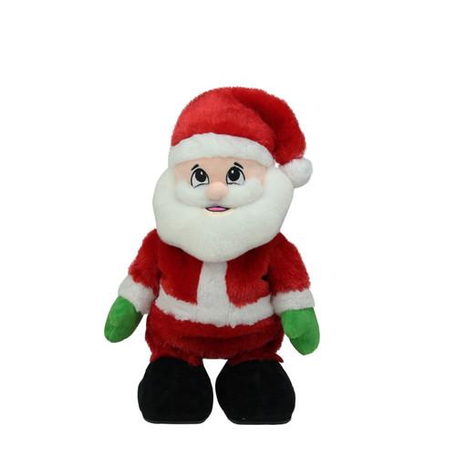 "12"" Animated Tickle 'n Laugh Santa Claus Plush Christmas Figure - IMAGE 1"