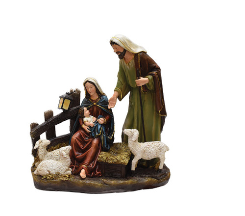 """13"""" Nativity Scene with Joseph, Mary and Baby Jesus Religious Christmas Table Top Figure - IMAGE 1"""