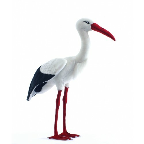 """27.5"""" Lifelike Handcrafted Extra Soft Plush Stork Bird Stuffed Animal - IMAGE 1"""