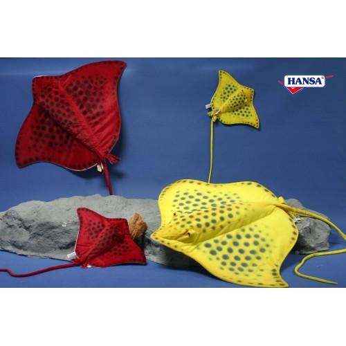 "Set of 3 Life-like Handcrafted Extra Soft Plush Red Stingrays 20"" - IMAGE 1"