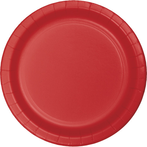 """Club Pack of 240 Classic Red Disposable Paper Party Banquet Dinner Plates 9"""" - IMAGE 1"""