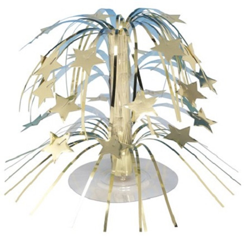"""Club Pack of 12 Mini Gold Stars Cascading Centerpiece Party Decorations 8.5"""" - IMAGE 1"""