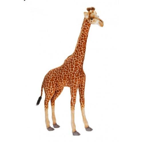 "64.75"" Brown and white Handcrafted Plush Giraffe Stuffed Animal - IMAGE 1"
