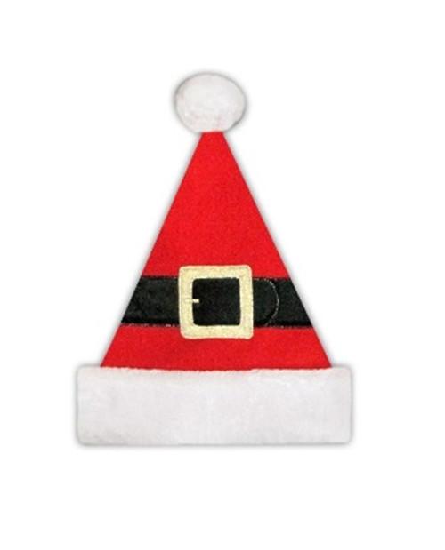 Red and Black Unisex Adult Christmas Santa Hat Costume Accessory - Medium - IMAGE 1