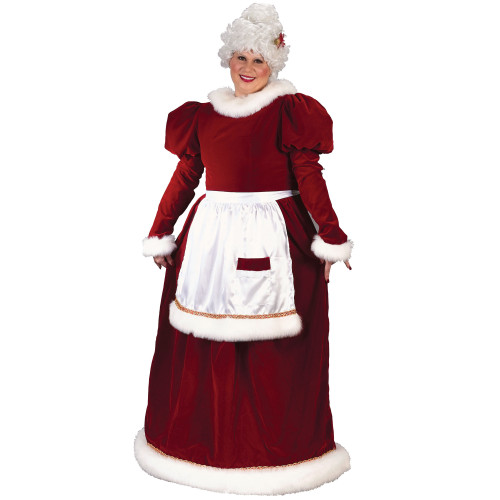 Red and White Mrs. Santa Claus Women Adult Christmas Costume - Plus Size - IMAGE 1