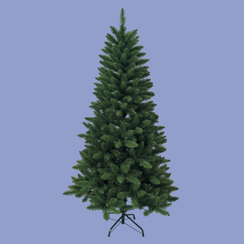 6' Traditional Artificial Green Pine Christmas Tree with Metal Stand - Unlit - IMAGE 1