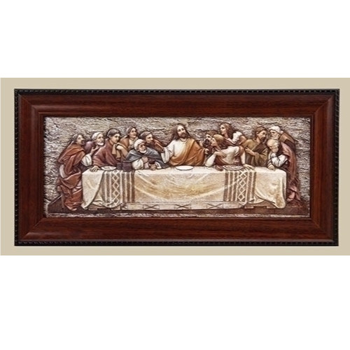 """7"""" St. Joseph's Studio Religious Inspirational The Last Supper Plaque with Frame - IMAGE 1"""