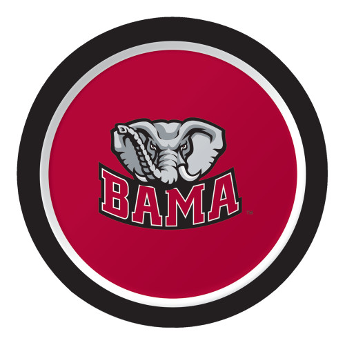 """Club Pack of 96 NCAA University of Alabama """"Bama"""" Disposable Paper Party Lunch Plates 7"""" - IMAGE 1"""