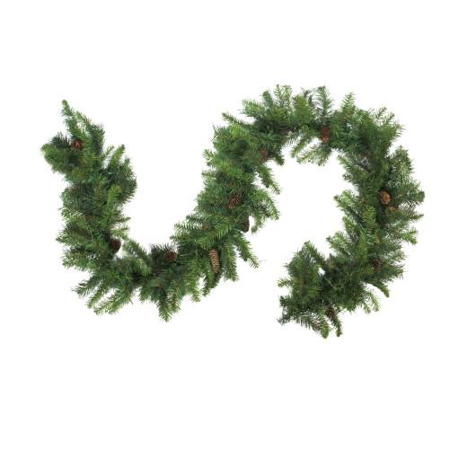 "9' x 16"" Dakota Red Pine Cones Artificial Christmas Garland - Unlit - IMAGE 1"