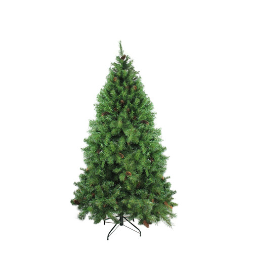 6.5' Full Dakota Red Pine with Pine Cones Artificial Christmas Tree - Unlit - IMAGE 1