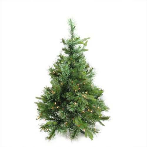 "3' x 29"" Pre-Lit Ashcroft Cashmere Pine Full Artificial Christmas Tree - Clear Dura Lights - IMAGE 1"