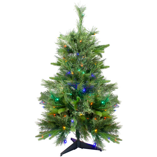 3' x 29 Pre-Lit Ashcroft Cashmere Pine Full Artificial Christmas Tree - Multi LED Lights - IMAGE 1