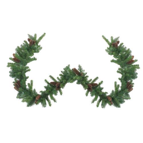 "9' x 14"" Dakota Red Pine Artificial Christmas Garland - Unlit - IMAGE 1"