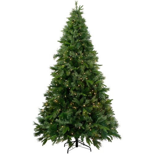 7.5' Pre-Lit Medium Ashcroft Cashmere Pine Artificial Christmas Tree - Warm White LED Lights - IMAGE 1