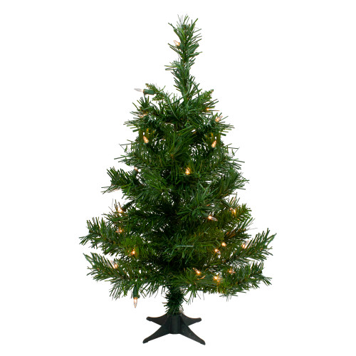 2' Pre-Lit Medium Royal Pine Artificial Christmas Tree - Clear Lights - IMAGE 1