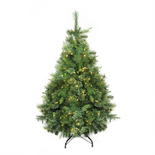 4.5' Pre-Lit Full Ashcroft Cashmere Pine Artificial Christmas Tree - Warm Clear LED Lights - IMAGE 1