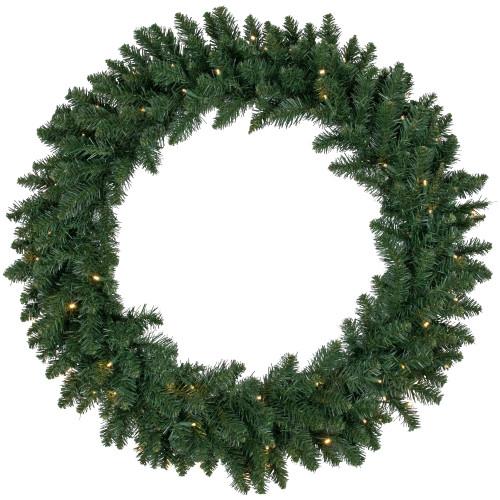Pre-Lit Buffalo Fir Artificial Christmas Wreath - 36-Inch, Warm White LED Lights - IMAGE 1