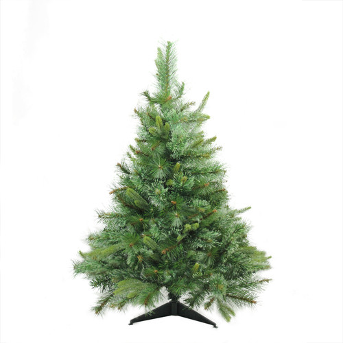 3' Full Ashcroft Cashmere Pine Artificial Christmas Tree - Unlit - IMAGE 1