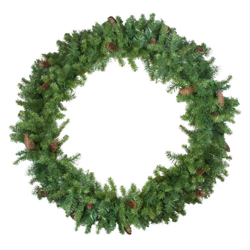 Green and Brown Pine Artificial Christmas Wreath - 48-Inch, Unlit - IMAGE 1