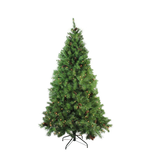 6.5' Pre-Lit Medium Red Pine Artificial Christmas Tree - Clear Lights - IMAGE 1