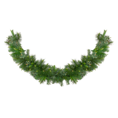 "6' x 14"" Pre-Lit Ashcroft Cashmere Pine Artificial Christmas Garland - Warm White LED Lights - IMAGE 1"