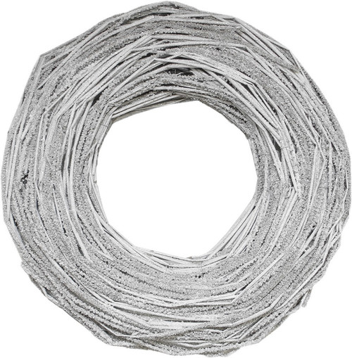 White Twig Glittered Tones Rustic Artificial Christmas Wreath - 13-Inch, Unlit - IMAGE 1