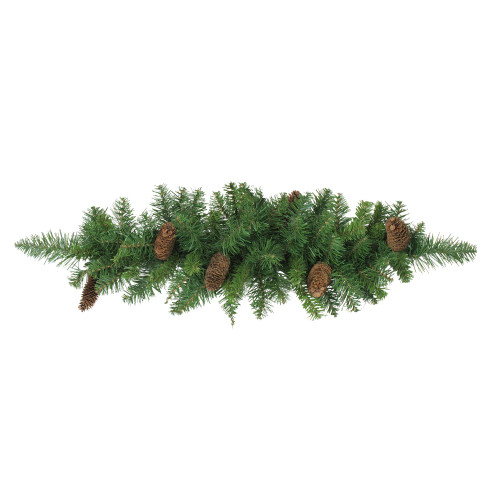 "32"" Green and Brown Pine Cones Artificial Christmas Swag - Unlit - IMAGE 1"
