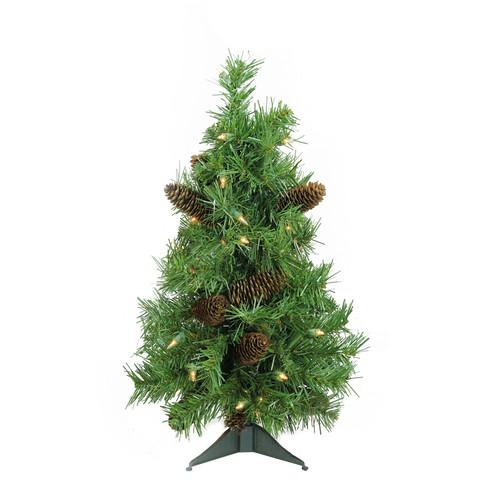 2' Pre-Lit Green Full Dakota Pine Artificial Christmas Tree - Clear Dura-Lit Lights - IMAGE 1