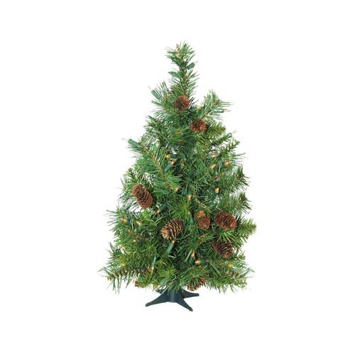 3' Pre-Lit Green Medium Dakota Pine Artificial Christmas Tree - Clear Dura-Lit Lights - IMAGE 1