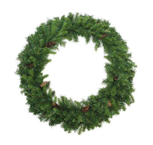 Dakota Red Pine Commercial Artificial Christmas Wreath - 6-Foot, Unlit - IMAGE 1