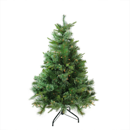 4.5' Pre-Lit Full Ashcroft Cashmere Pine Artificial Christmas Tree - Clear Dura-Lit Lights - IMAGE 1