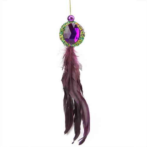 "10"" Purple and Peacock Green Jewel Hanging Christmas Ornament - IMAGE 1"