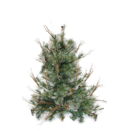2' Full Mixed Country Pine Artificial Christmas Wall Tree - Unlit - IMAGE 1