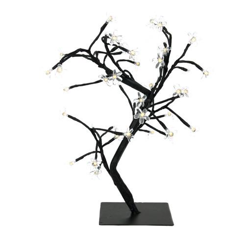 """18"""" LED Lighted Japanese Sakura Blossom Flower Tree - Warm White Lights - IMAGE 1"""