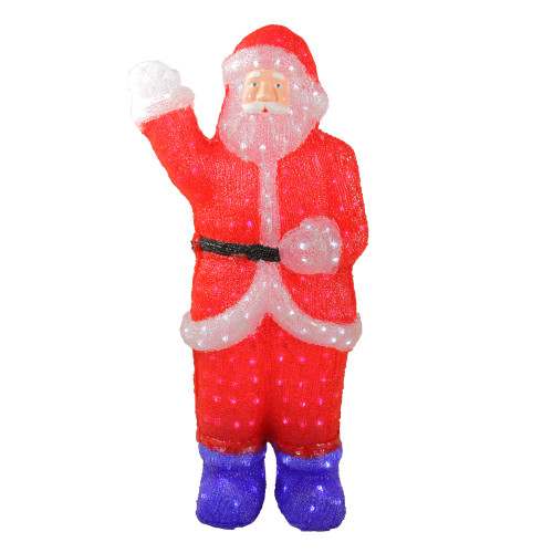 3' Red Lighted Commercial Grade Santa Claus Christmas Display Decoration - IMAGE 1