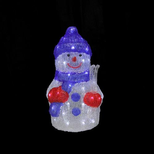 "15"" Lighted Commercial Grade Acrylic Snowman Christmas"