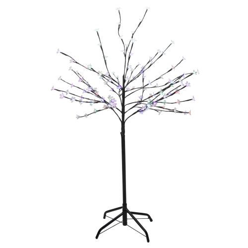 4' LED Lighted Cherry Blossom Flower Tree - Color Changing Lights - IMAGE 1