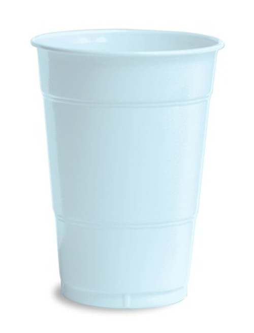 Club Pack of 240 Baby Blue Premium Disposable Pastel Drinking Party Tumbler Cups 16 oz. - IMAGE 1