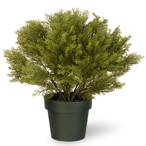 """20"""" Green Artificial Juniper Bush with Weighted Round Pot - IMAGE 1"""