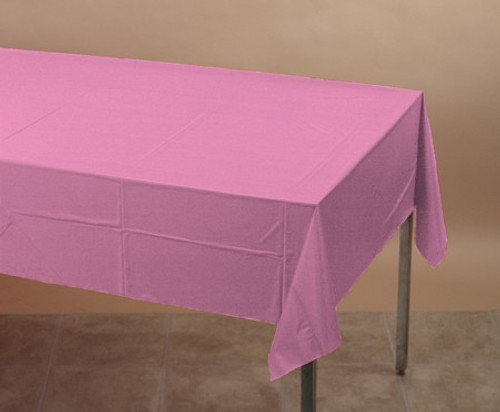 Pack of 6 Candy Pink Disposable Banquet Party Table Covers 9' - IMAGE 1