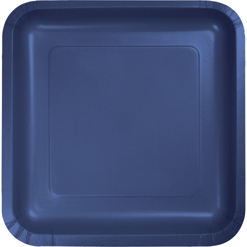 """Pack of 180 Navy Premium Disposable Paper Party Lunch Plates 7"""" - IMAGE 1"""